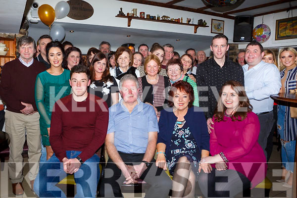 Nora Duggan from Farmers Bridge, seated third from the left, celebrating a Special 60th birthday in the Brogue Inn with her family and friends on Saturday night.