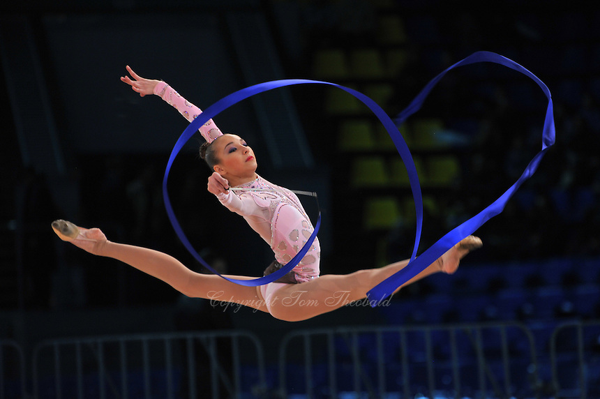 "VIKTORIA MASUR of Ukraine performs at 2011 World Cup Kiev, ""Deriugina Cup"" in Kiev, Ukraine on May 7, 2011."
