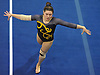 Gillian Murphy of Massapequa perform her floor routine during the Nassau County varsity gymnastics individual championships and state qualifier at Long Beach High School on Tuesday, Feb. 13, 2018. She earned a score of 9.325 in the event.