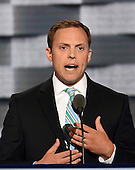 Luke Feeney of Chillicothe, Ohio makes remarks at the 2016 Democratic National Convention at the Wells Fargo Center in Philadelphia, Pennsylvania on Monday, July 25, 2016.<br /> Credit: Ron Sachs / CNP<br /> (RESTRICTION: NO New York or New Jersey Newspapers or newspapers within a 75 mile radius of New York City)