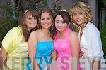 Caroline murphy, Jackie Stackpool, Christina O'Connor and Agnes Fitzgerald pictured at Abbeyfeale Debs ball at the Abbeygate hotel,on Thursday.