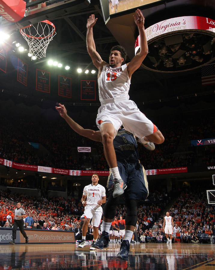 Virginia forward Anthony Gill (13) during the game Jan. 22, 2015, in Charlottesville, Va. Virginia defeated Georgia Tech 57-28.