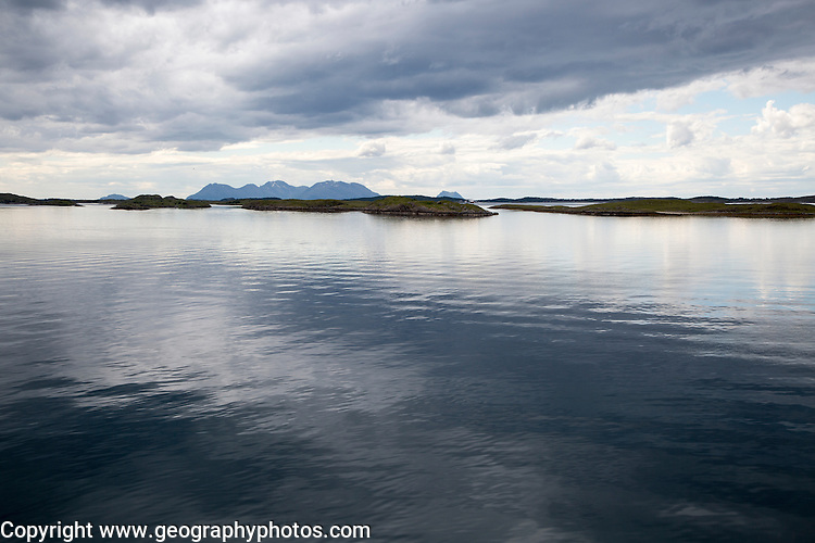 Small island skerries in sea off coast of Nordland, Norway
