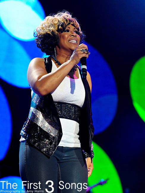Erica Atkins-Campbell of Mary Mary performs at the 2012 Essence Music Festival on July 7, 2012 in New Orleans, Louisiana at the Louisiana Superdome.