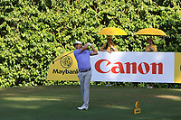 David Lipsky (USA) in action on the 8th during Round 4 of the Maybank Championship at the Saujana Golf and Country Club in Kuala Lumpur on Saturday 4th February 2018.<br /> Picture:  Thos Caffrey / www.golffile.ie<br /> <br /> All photo usage must carry mandatory copyright credit (&copy; Golffile | Thos Caffrey)