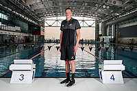 Daniel Hunter. Swimming New Zealand Gold Coast Commonweath Games Team Announcement, Owen G Glenn National Aquatic Centre, Auckland, New Zealand,Friday 22 December 2017. Photo: Simon Watts/www.bwmedia.co.nz