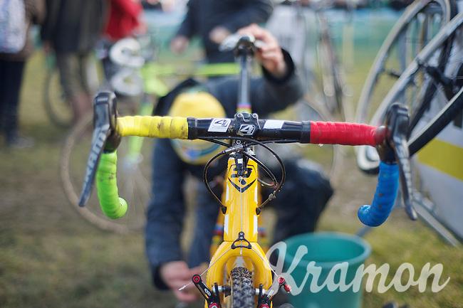 world champ bars by U23 World CX Champion Wout Van Aert (BEL)<br /> <br /> 2014 Noordzeecross