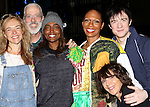 Stephanie Pope with Rachel Bay Jones, Terrence Mann, Patina Miller, Matthew James Thomas & Andrea Martin  attending the Broadway Opening Night Gypsy Robe Ceremony honoring Stephanie Pope for 'Pippin' at the Music Box Theatre in New York City on 4/25/2013