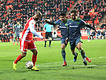 08.03.2019, Stadion an der Wuhlheide, Berlin, GER, 2.FBL, 1.FC UNION BERLIN  VS. FC Ingolstadt 04, <br /> DFL  regulations prohibit any use of photographs as image sequences and/or quasi-video<br /> im Bild Akaki Gogia (1.FC Union Berlin #11), Paulo Otavio (FC Ingolstadt #6) , Robin Krau&szlig;e (FC Ingolstadt #23)<br /> <br /> <br />      <br /> Foto &copy; nordphoto / Engler