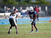 Ari Allen (4) - Norland Vikings (Miami) vs IMG Academy Football on October 26, 2019 at IMG Academy in Bradenton, Florida.  (Mike Janes Photography)