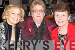 FRIENDS : Eileen Moynihan (Killarney), Philomena Chambers (Bandon) and Eve Moynihan (Killarney) enjoying the Kerry IFA Farm Family Fundraiser Lunch for Talbot Grove and Pieta House,Castleisland in The River Island Hotel, Castleisland on Monday.