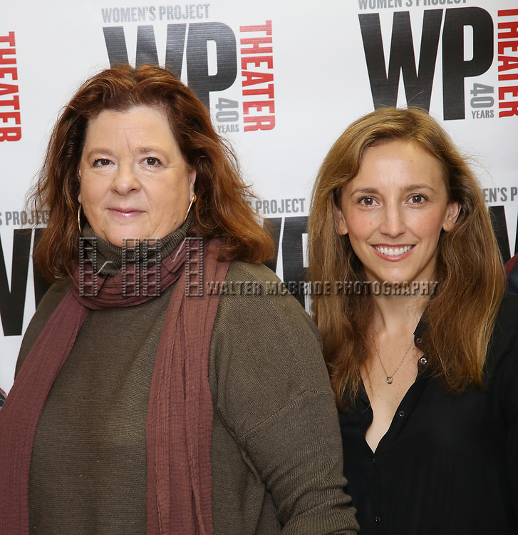 Theresa Rebeck and Adrienne Campbell-Holt attend the WP Theater production of 'What We're Up Against' Photo Calll at WP Theater Office on October 5, 2017 in New York City.