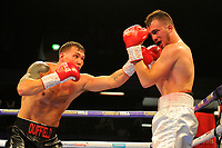Charlie Duffield (black shorts) defeats Josip Perkovic during a Boxing Show at the Copper Box Arena on 27th October 2018