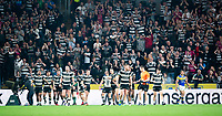 Picture by Allan McKenzie/SWpix.com - 19/04/2018 - Rugby League - Betfred Super League - Hull FC v Leeds Rhinos - KC Stadium, Kingston upon Hull, England - Hull FC fans and supporters cheer as their side lead Leeds.