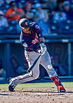 2 March 2019: Minnesota Twins catcher Brian Navarreto gets an RBI single in the 8th inning, tying the game at 6 runs apiece during a Spring Training game against the Washington Nationals at the Ballpark of the Palm Beaches in West Palm Beach, Florida. The Twins fell to the Nationals 10-6 in Grapefruit League play. Mandatory Credit: Ed Wolfstein Photo *** RAW (NEF) Image File Available ***