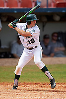 Dartmouth Big Green shortstop Nate Ostmo (19) at bat during a game against the Lehigh Mountain Hawks on March 20, 2016 at Chain of Lakes Stadium in Winter Haven, Florida.  Dartmouth defeated Lehigh 5-4.  (Mike Janes/Four Seam Images)