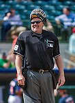12 March 2014: MLB Umpire Gary Cederstrom smiles between innings of a Spring Training game between the Washington Nationals and the Houston Astros at Osceola County Stadium in Kissimmee, Florida. The Astros rallied in the bottom of the 9th to edge out the Nationals 10-9 in Grapefruit League play. Mandatory Credit: Ed Wolfstein Photo *** RAW (NEF) Image File Available ***