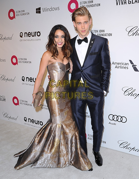 Vanessa Hudgens and Austin Butler attends the 2014 Elton John AIDS Foundation Academy Awards Viewing Party in West Hollyood, California on March 02,2014                                                                               <br /> CAP/DVS<br /> &copy;DVS/Capital Pictures