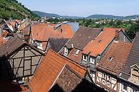 Blick auf Main und Altsatd, Miltenberg in Unterfranken, Bayern, Deutschland
