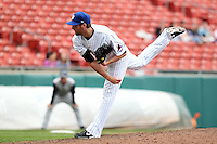Buffalo Bisons relief pitcher Bobby Parnell #39 delivers a pitch during a game against the Charlotte Knights at Dunn Tire Park on May 22, 2011 in Buffalo, New York.  Buffalo defeated Charlotte by the score of 7-5.  Photo By Mike Janes/Four Seam Images
