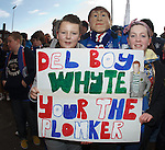 Fans protesting over Craig Whyte outside Ibrox