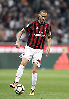 Calcio, Serie A: Milano, stadio Giuseppe Meazza (San Siro), 1 ottobre 2017.<br /> Milan's Leonardo Bonucci in action during the Italian Serie A football match between Milan and AS Roma at Milan's Giuseppe Meazza (San Siro) stadium, October 1, 2017.<br /> UPDATE IMAGES PRESS/IsabellaBonotto