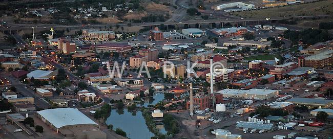 Dusk downtown Pueblo, Colorado. June 2014. 85119