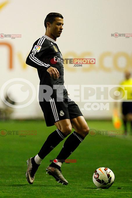 Cristiano Ronaldo of Real Madrid during La Liga match between Rayo Vallecano and Real Madrid at Vallecas Stadium in Madrid, Spain. April 08, 2015. (ALTERPHOTOS/Caro Marin) /NORTEphoto.com