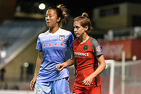Bridgeview, IL - Saturday August 12, 2017: Yuki Nagasato, Meghan Klingenberg during a regular season National Women's Soccer League (NWSL) match between the Chicago Red Stars and the Portland Thorns FC at Toyota Park. Portland won 3-2.