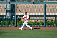Springfield Cardinals right fielder Jose Adolis Garcia (47) tracks a fly ball during a game against the Corpus Christi Hooks on May 30, 2017 at Hammons Field in Springfield, Missouri.  Springfield defeated Corpus Christi 4-3.  (Mike Janes/Four Seam Images)