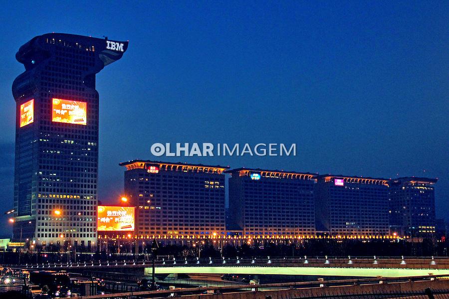 Predios comerciais em Pequim. China. 2011. Foto de Flávio Bacellar.