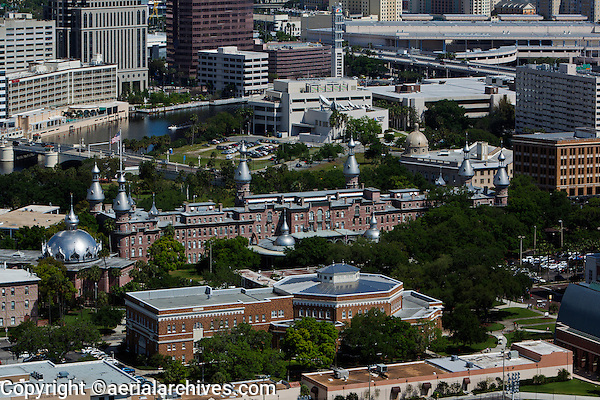 aerial photograph Plant Hall, University of Tampa, Tampa, Florida