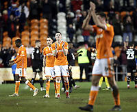 Blackpool's Paudie O'Connor (No.5) and Ben Heneghan applaud the fans at the final whistle<br /> <br /> Photographer Rich Linley/CameraSport<br /> <br /> The EFL Sky Bet League One - Blackpool v Barnsley - Saturday 22nd December 2018 - Bloomfield Road - Blackpool<br /> <br /> World Copyright &copy; 2018 CameraSport. All rights reserved. 43 Linden Ave. Countesthorpe. Leicester. England. LE8 5PG - Tel: +44 (0) 116 277 4147 - admin@camerasport.com - www.camerasport.com