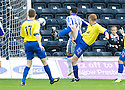 PARS RYAN THOMSON (23) SCORES DUNFERMLINE'S SECOND GOAL