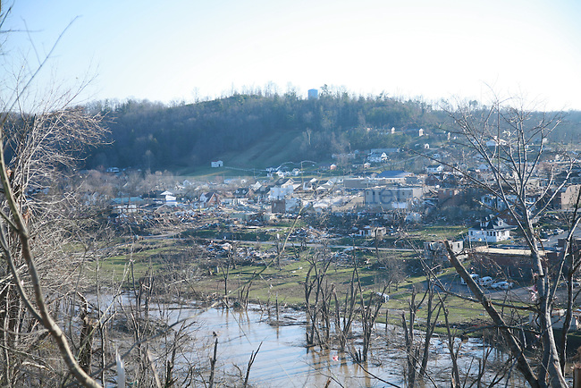 The view of West Liberty, Ky. from Hospital Hill, March 3, 2012. Photo by Brandon Goodwin | Staff