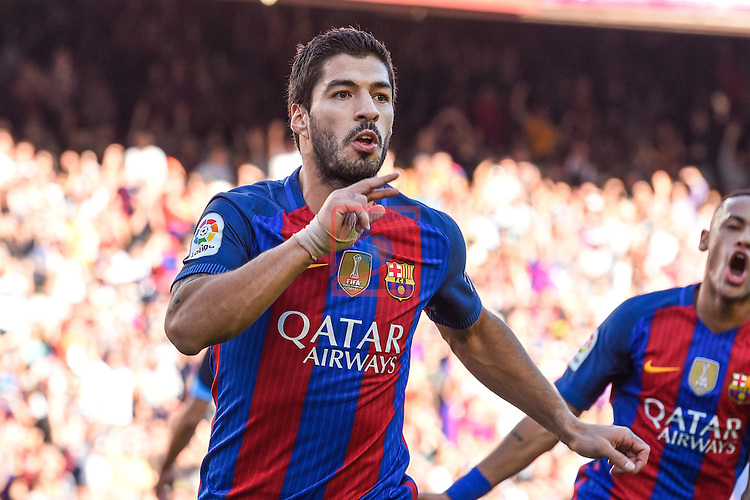 League Santander 2016/2017. Game: 8.<br /> FC Barcelona vs Deportivo: 4-0.<br /> Luis Suarez.