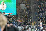 05.02.2019, Signal Iduna Park, Dortmund, GER, DFB-Pokal, Achtelfinale, Borussia Dortmund vs Werder Bremen<br /> <br /> DFB REGULATIONS PROHIBIT ANY USE OF PHOTOGRAPHS AS IMAGE SEQUENCES AND/OR QUASI-VIDEO.<br /> <br /> im Bild / picture shows<br /> Jubel #Max Kruse (Werder Bremen #10)auf dem Zaun<br /> <br /> Foto &copy; nordphoto / Ewert