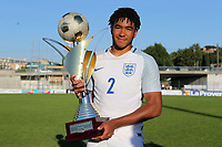 England win the Tournoi Maurice Revello Trophy and Reece James of Chelsea and England celebrates with the Cup during England Under-18 vs Ivory Coast Under-20, Toulon Tournament Final Football at Stade de Lattre-de-Tassigny on 10th June 2017
