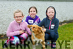 at the SPA National School Donal Walsh 6K Walk/Run Challenge on Sunday were Katelynn Savage, Erin McLoughlin, Emily O'Connor with Gipsy