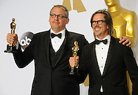 28 February 2016 - Hollywood, California - Charles Randolph , Adam McKay. 88th Annual Academy Awards presented by the Academy of Motion Picture Arts and Sciences held at Hollywood & Highland Center. Photo Credit: Byron Purvis/AdMedia