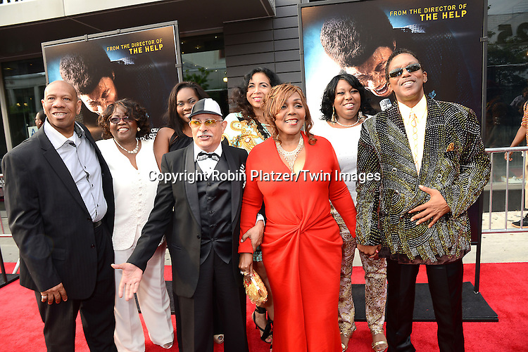 "Bobby Byrd's wife and children and grandchildren attends the World Premiere of ""Get On Up"" at the Apollo Theater in Harlem in New York Citiy on July 21, 2014."