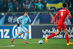 Jiangsu FC Forward Roger Beyker Martinez (L) in action during the AFC Champions League 2017 Group H match between Jiangsu FC (CHN) vs Adelaide United (AUS) at the Nanjing Olympics Sports Center on 01 March 2017 in Nanjing, China. Photo by Marcio Rodrigo Machado / Power Sport Images