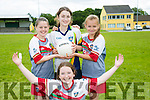l-r  Laura Scanlon, Moira Burke, Niamh Denham and Kaylan Bartlett  at the Cúl Camps, Milltown/ Castlemaine on Monday