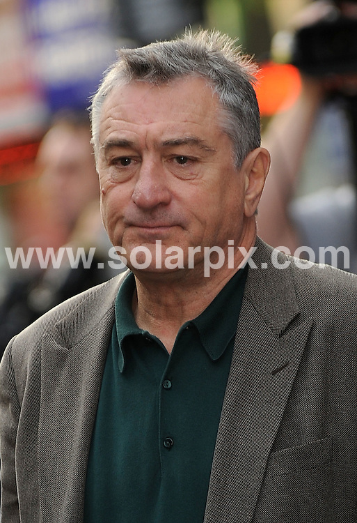 **ALL ROUND PICTURES FROM SOLARPIX.COM**.**WORLDWIDE SYNDICATION RIGHTS**.guests at the Odeon, Leicester Square for the premiere of the new film Righteous Kill. London, UK. 14th September 2008..This pic: Robert De Niro..JOB REF: 7324 SSD     DATE: 14_09_2008.**MUST CREDIT SOLARPIX.COM OR DOUBLE FEE WILL BE CHARGED* *UNDER NO CIRCUMSTANCES IS THIS IMAGE TO BE REPRODUCED FOR ANY ONLINE EDITION WITHOUT PRIOR PERMISSION*.