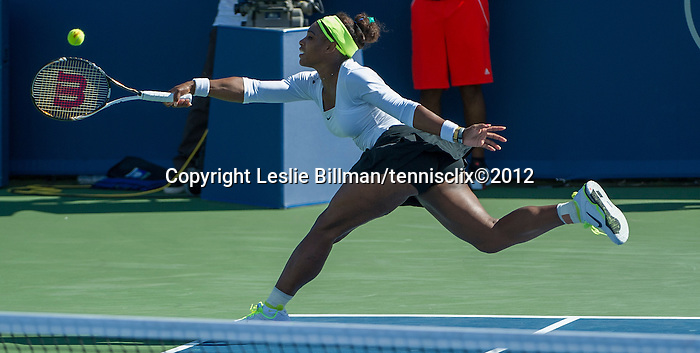 Serena Williams (USA) loses wins  at the Western and Southern Financial Group Masters Series in Cincinnati on August 17, 2012
