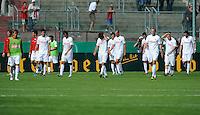 FUSSBALL   DFB POKAL   SAISON 2011/2012  1. Hauptrunde SpVgg Unterhaching - SC Freiburg             31.07.2011 Enttaeuschung nach der Niederlage bei Freiburg