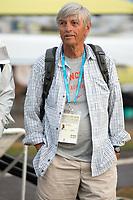 Rio de Janeiro. BRAZILUSA Coach, Kris KORZENIOWSKI  General view of the boat park.  2016 Olympic Rowing Regatta. Lagoa Stadium,<br /> Copacabana,  &ldquo;Olympic Summer Games&rdquo;<br /> Rodrigo de Freitas Lagoon, Lagoa. Local Time 06:48:56  Tuesday  09/08/2016<br /> [Mandatory Credit; Peter SPURRIER/Intersport Images]