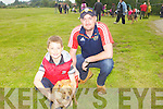 Dean Cronin and his uncle Pat at the dog show for the Annual Harvest Queen Festival in Knocknagoshal last Saturday.