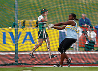 Photo: Richard Lane/Richard Lane Photography..Aviva World Trials & UK Championships athletics. 11/07/2009. Bola Ogun in the women's hammer.