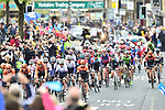 The start of Stage 4 of the 2019 Tour de Yorkshire, running 175km from Halifax to Leeds, Yorkshire, England. 5th May 2019.<br /> Picture: ASO/SWPix | Cyclefile<br /> <br /> All photos usage must carry mandatory copyright credit (© Cyclefile | ASO/SWPix)